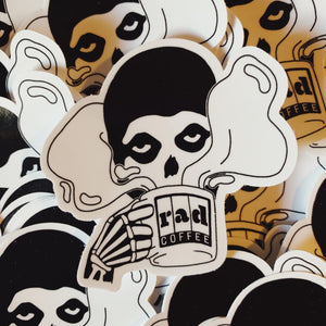 Rad Coffee - Sticker - Caffiend Skull