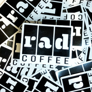 Rad Coffee - Sticker - Boxy Logo