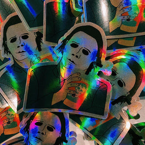 Rad Coffee - Sticker - Hologram Michael Myers