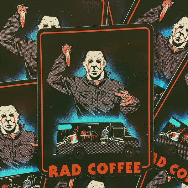 Rad Coffee - Sticker - Michael Myers Truck