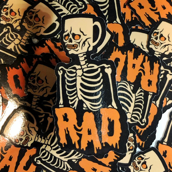 Rad Coffee - Sticker - Orange Mug Head