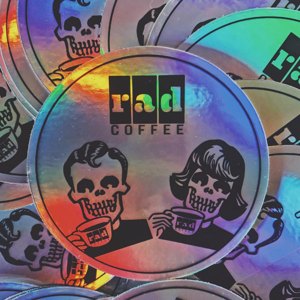 Rad Coffee - Sticker - Holographic Duo