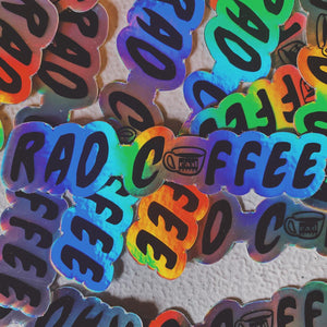 Rad Coffee - Sticker - Holographic Rad Mug