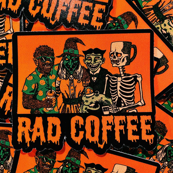 Rad Coffee - Sticker - Rad Monsters