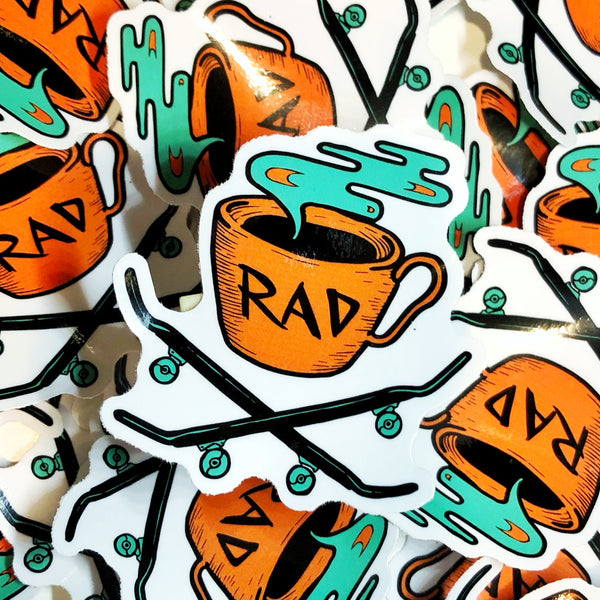 Rad Coffee - Sticker - SK8