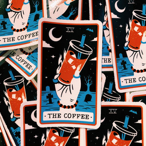 Rad Coffee - Sticker - Orange Tarot