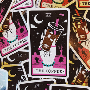 Rad Coffee - Sticker - Pink Tarot