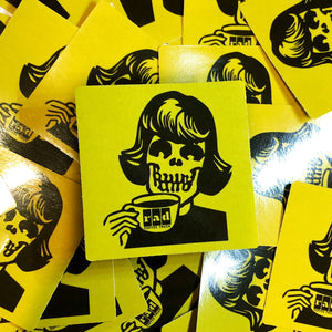 Rad Coffee - Sticker - Yellow Lady Sipper