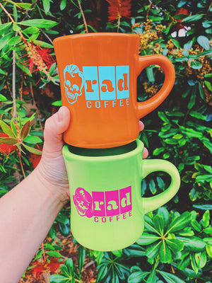 'Neon Series' Green Logo Mug
