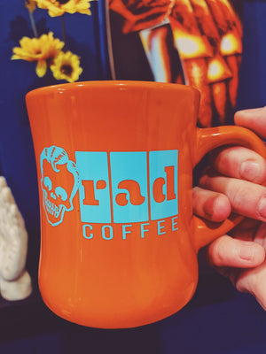 'Neon Series' Orange Logo Mug