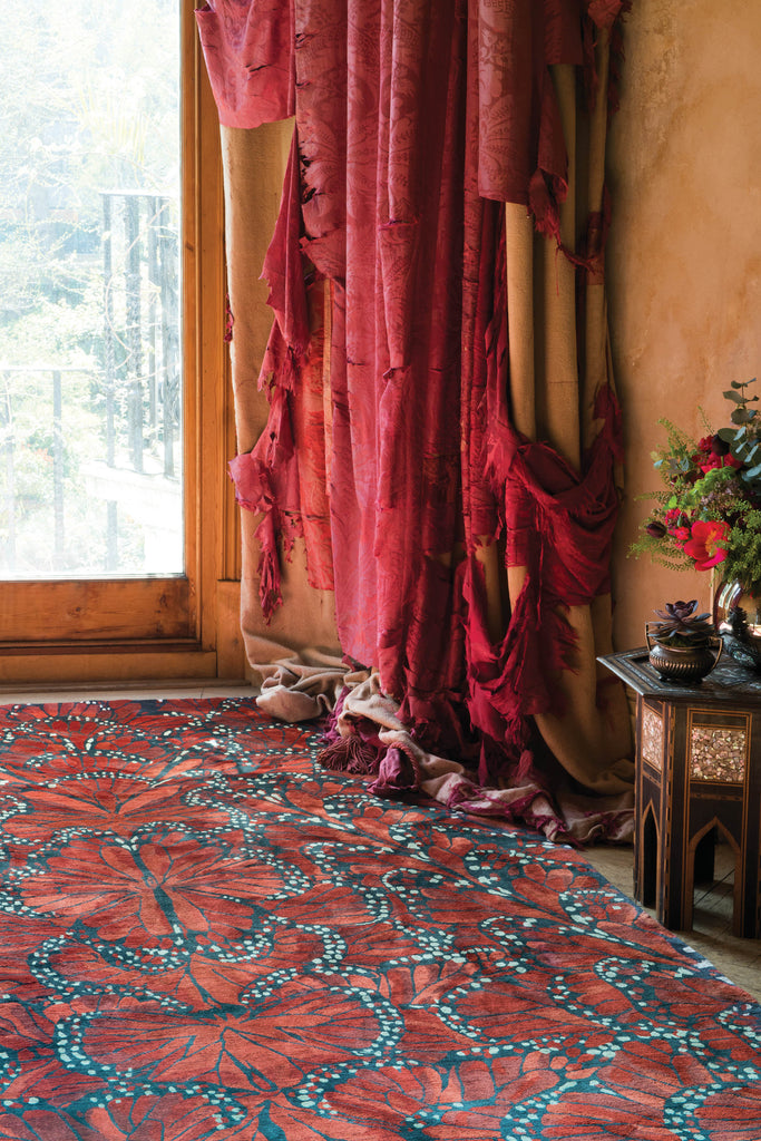 The Rug Company Monarch Fire By Alexander McQueen