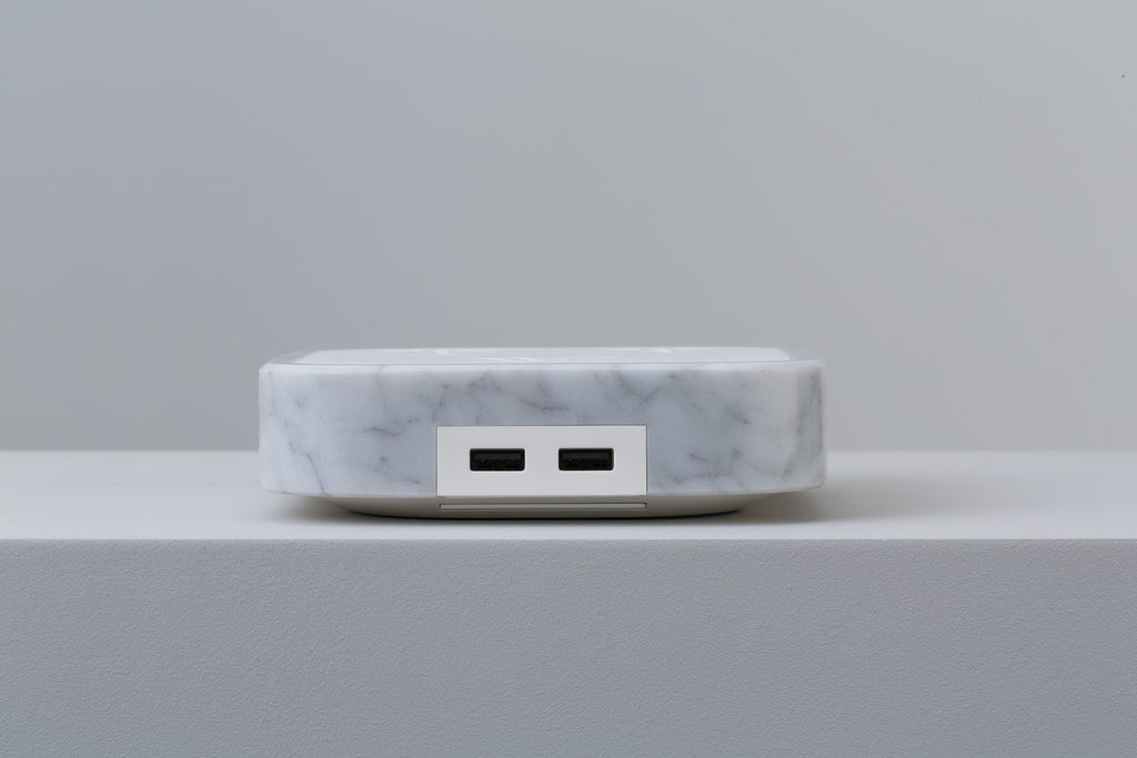 Woodie Wireless Charger Carrara Marble