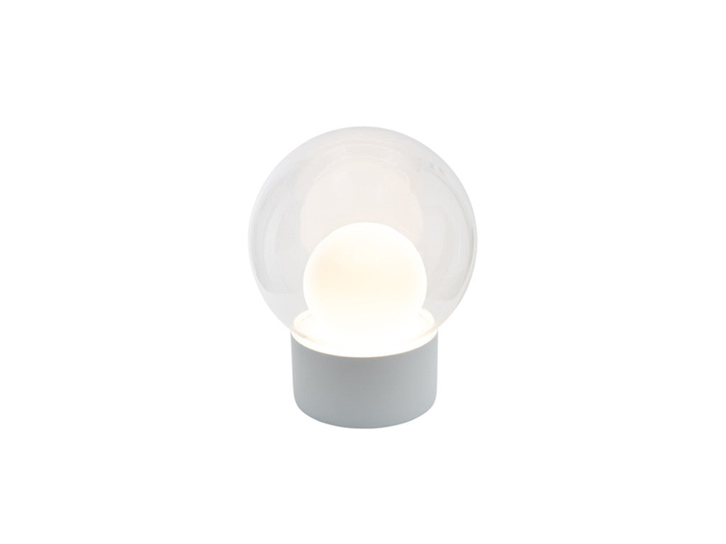 Boule Lamp Clear and Opal White Glass - VELA Life