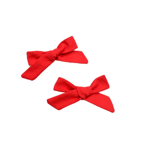 Classic red mini bow