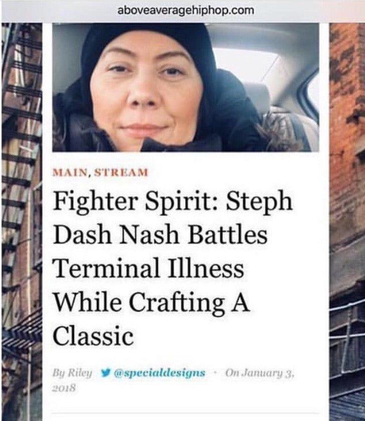 Fighter Spirit : Steph Dash Nash Battles Terminal Illness While Crafting A Classic