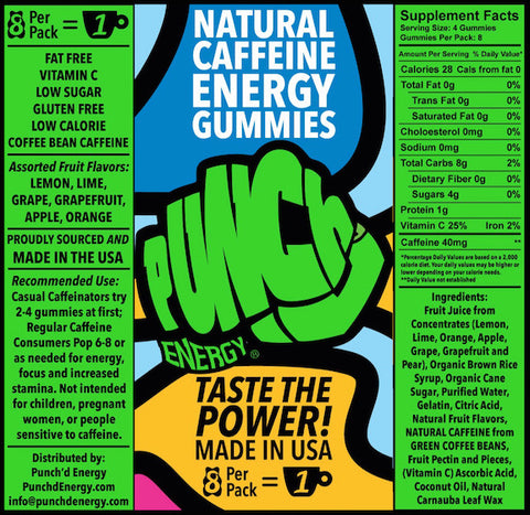 Punch'd Energy Green Label
