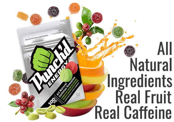 All Natural Ingredients, Real Fruit, Real Caffeine