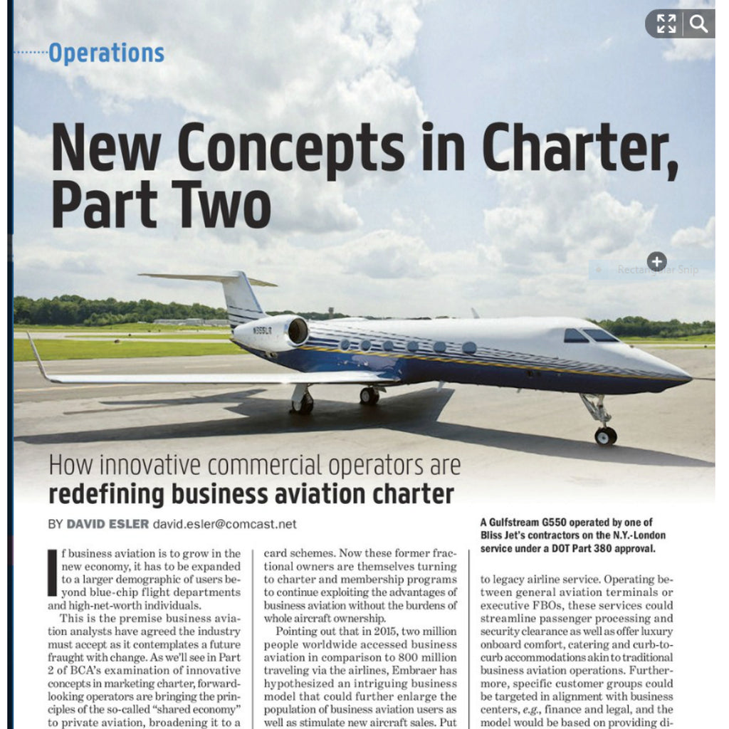 MemberJets Featured in BCA Magazine: New Concepts in Charter
