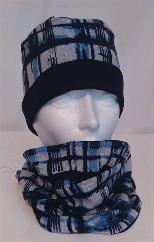 Ensemble petit Bob et foulard infini / Twin set little Bob and infinity scarf