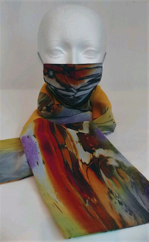 Accessoire duo masque et foulard / mask and scarf duo accessory