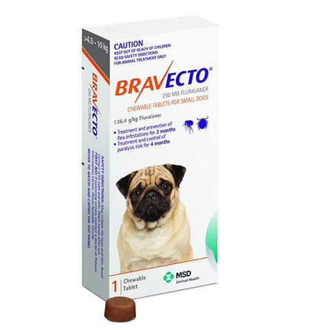 Bravecto Flea & Tick Chews - 4.5-10kg Small Dog (3 month) - Pet Chemist