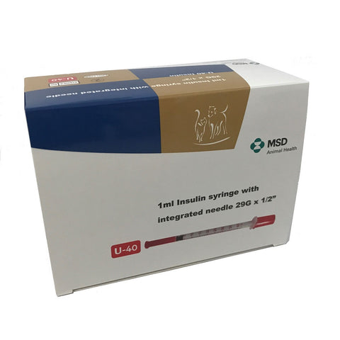 Caninsulin Syringes (MSD) 0.5ml 40IU/ml (30 pack)