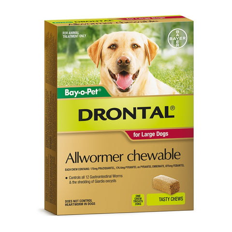 Drontal Wormer Large Dogs 10-35kg - Pet Chemist
