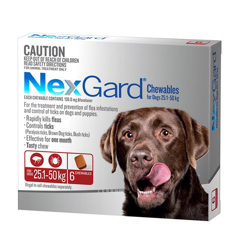 Nexgard Flea & Tick Chews - 25-50kg Extra Large Dogs - Pet Chemist