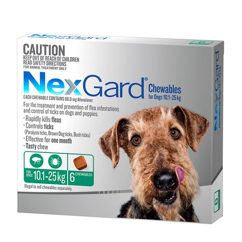 Nexgard Flea & Tick Chews - 10-25kg Large Dogs - Pet Chemist