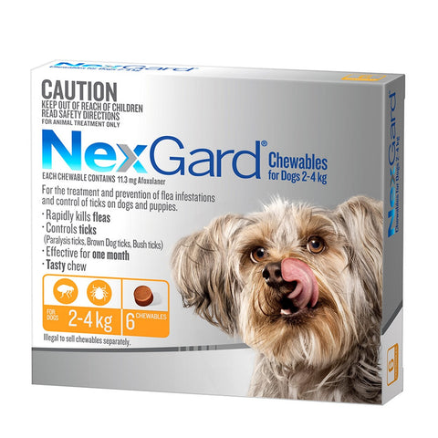 Nexgard Flea & Tick Chews - 2-4kg Very Small Dogs - Pet Chemist