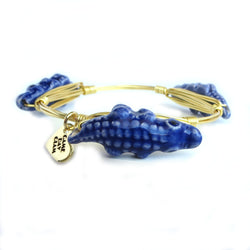 Blue Gator Bangle Bracelet - Game Day Glam - UF Jewelry, University of Florida Jewelry