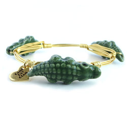 Green Gator Bangle Bracelet - Game Day Glam - UF Jewelry, University of Florida jewelry