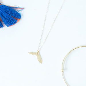 14K Gold Florida Charm Necklace
