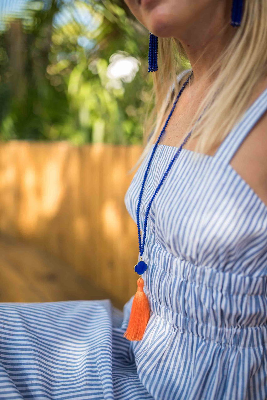 Clover Tassel Necklace