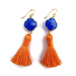 UF Jewelry, University of Florida Jewelry, Game Day Glam, orange and blue earrings
