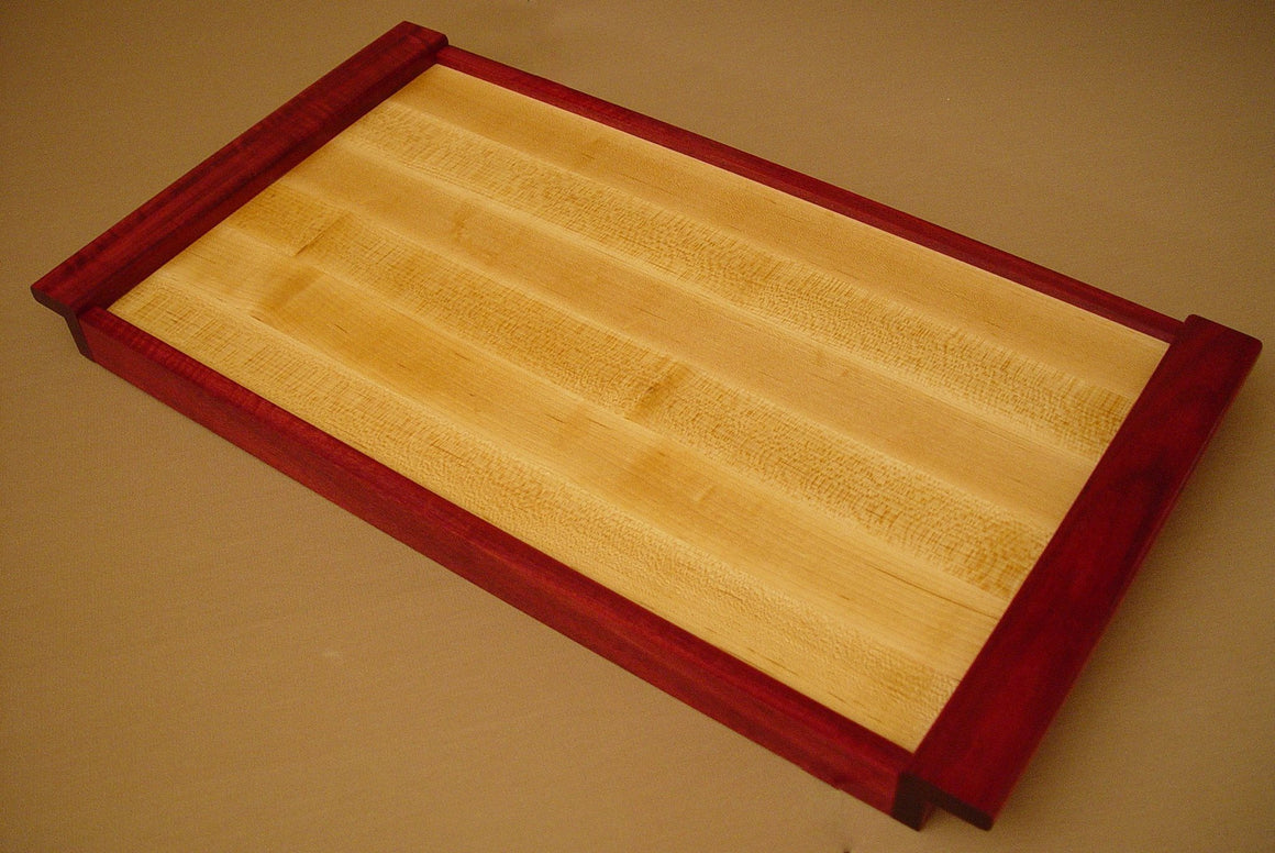 Maple / Purpleheart Serving Tray - Chopping Blox - 1