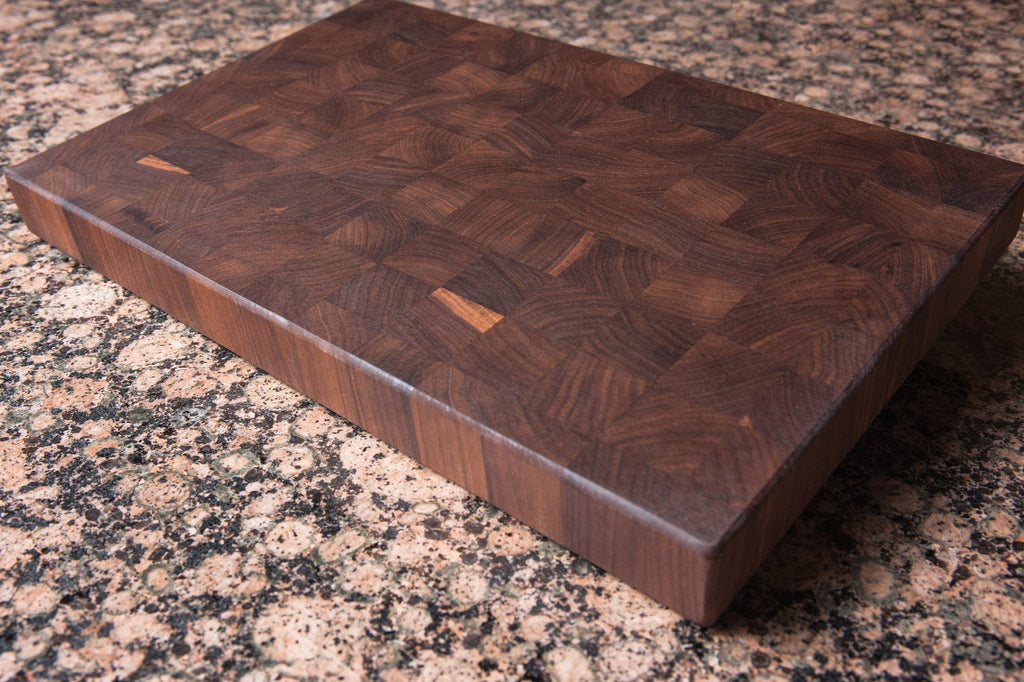 Walnut end grain cutting board large