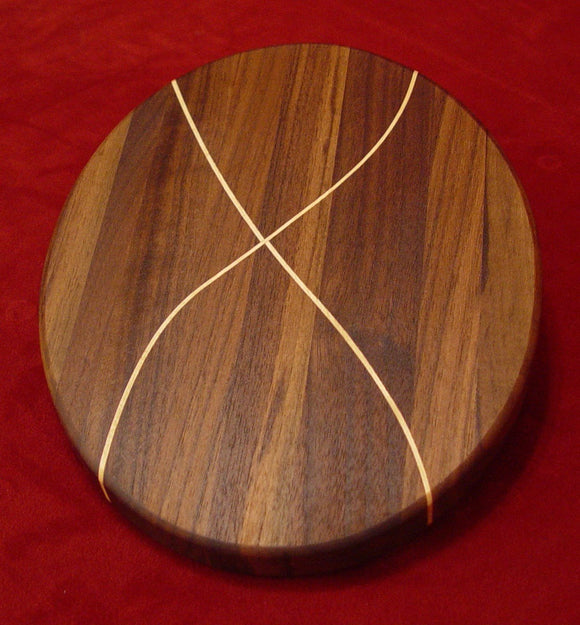 Walnut/Maple X Ellipse - Chopping Blox - 1
