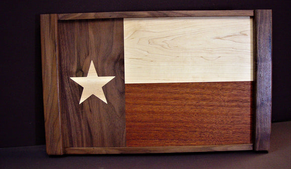 Texas Flag Tray and Texas Coaster Set - Chopping Blox - 1