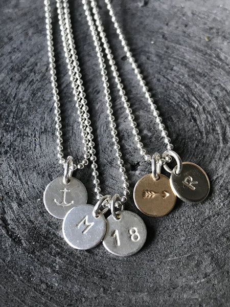 STERLING SILVER MINI CHARM NECKLACE