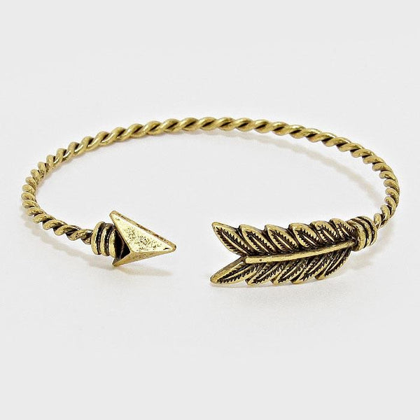 FEATHER TWISTED ARROW CUFF