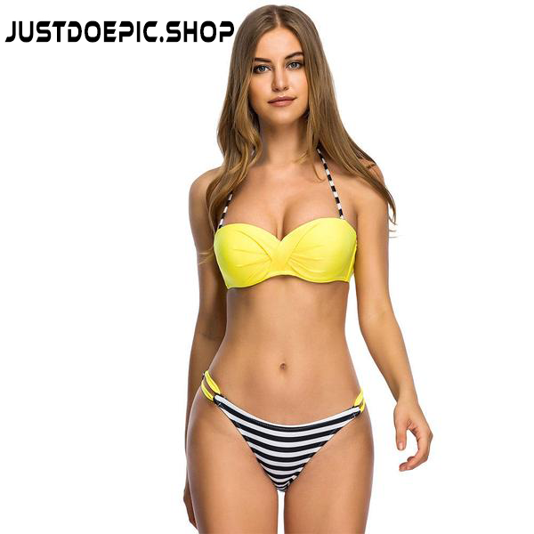 JDE Swimwear Push Up Bikini - Women Bikini Set two pieces Swimsuit - Bathing Suit - Size S-3XL
