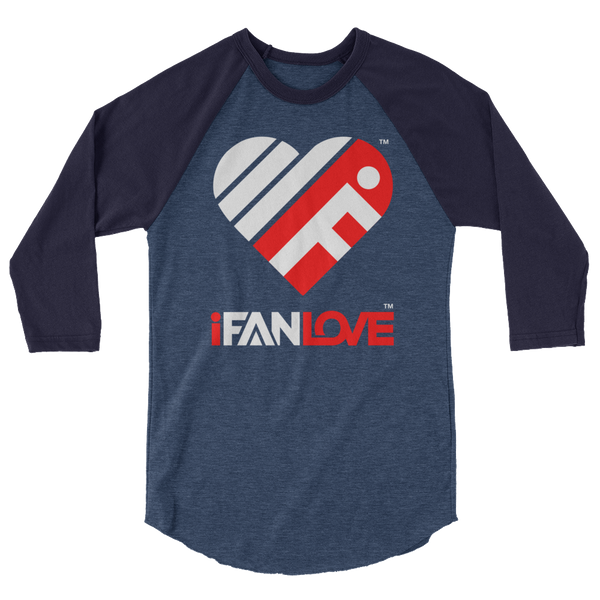 iFanLove - Baseball Raglan Shirt for Men - 3/4 Sleeve v1