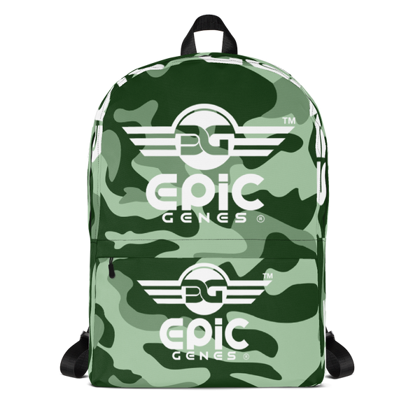 EPIC GENES - 3 Wings - Camo - Backpack - Green Design