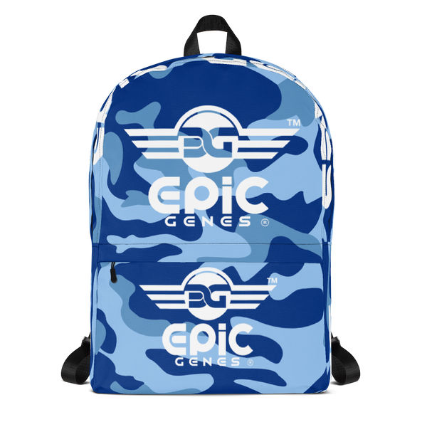 EPIC GENES - 3 Wings - Camo - Backpack - Blue Design