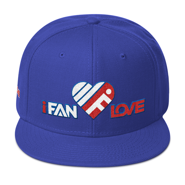 iFanLove - Snapback Hat - Red, White and Blue Thread Colors v1