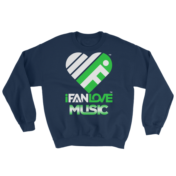 iFanLove Music - Sweatshirt - White & Green Design v1
