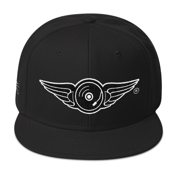DR. EPIC - Signature Wing Snapback Hat - White & Black Thread Colors v1
