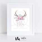'Ella Design' Personalised Birth Print