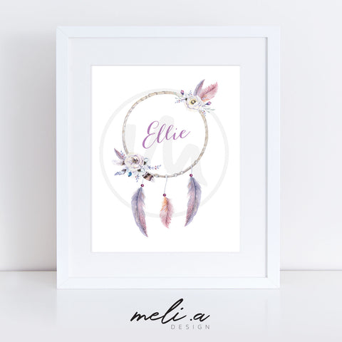 'Ellie Design' Personalised Name Print